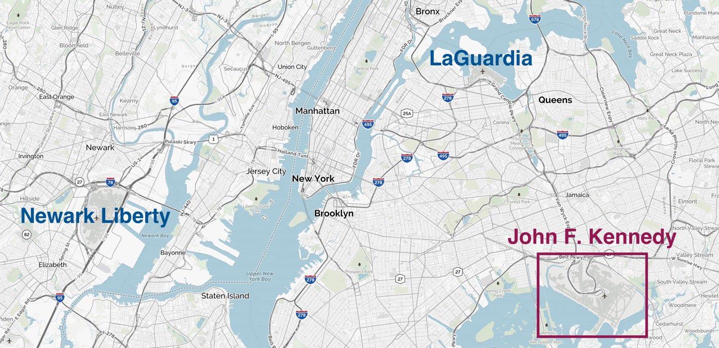 Com anar de l'aeroport JFK a ManhattanDescobreix els mitjans de transport per al trasllat des de l'aeroport JFK a Manhattan Nova York: Metro, Bus, Taxi o transport privat.